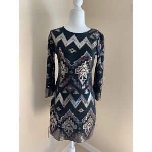 Women's Express Aztec Sequin Dress